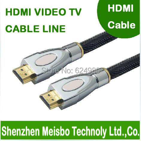 High density speed Gold Plated plug flat 3m 10ft HD connector monitor 4096*2160 1.4V 3D hdmi cable line for tablet computer