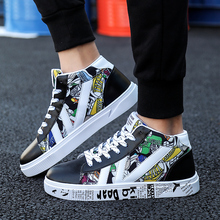 Graffiti Women Sneakers Cool Shoes Scooter High Top Boots Wo