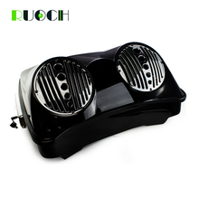 Motorcycle Tour Pak Trunk Set King Razor Pack w/Dual 8 Speaker Grill  For Harley HD Touring Street Glide Accessories 14-18