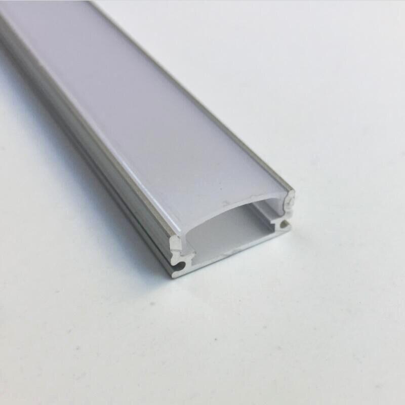 TS07Y 1 m longueur profilé d'aluminium led pour les lumières de bande menées a mené le logement de canal de profil led aluminium de bande