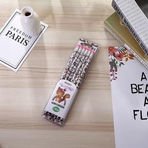 Image 4 - 72 قطعة Kawaii خشبية قلم رصاص مجموعة الجدة زيبرا نمط قلم رصاص للمدرسة اللوازم المكتبية الكتابة HB القياسية مجموعة أقلام رصاص القرطاسية