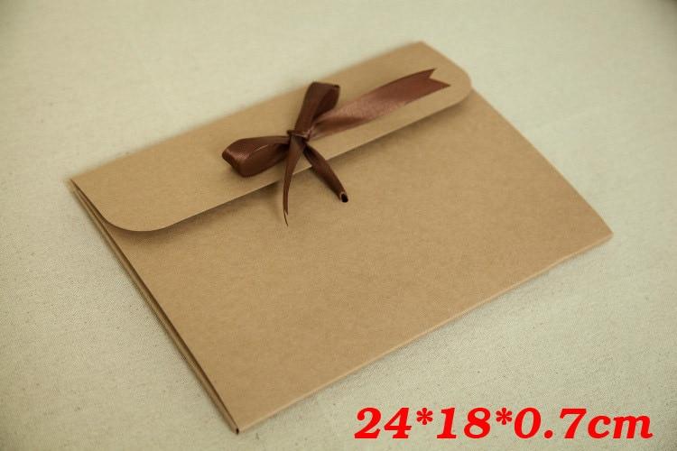 241807cm Bow Kraft Paper Pocket Bag Kerchief