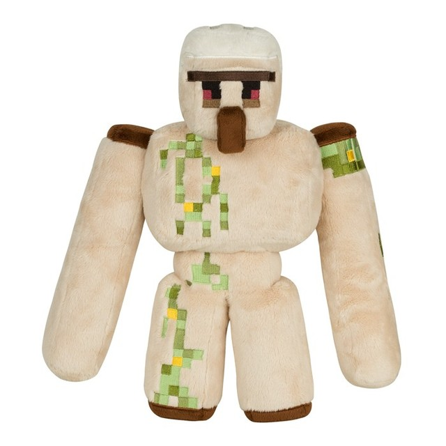 NEW Minecraft Plush Toys 36CM Minecraft Iron Golem Sword Pickaxe Stone  Model Toys Action Figure Kids Toys Gift suffered doll