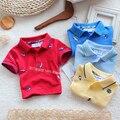 Младенцы лето одежда дети t - рубашки мальчик короткая - рукав футболки дети комикс свободного покроя вышитая тройник