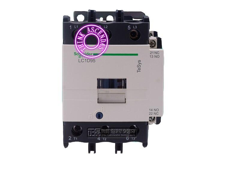 LC1D Series Contactor LC1D95 LC1D95R7C 440V LC1D95T7C 480V / LC1D95U7C 240V / LC1D95W7C 277V / LC1D95V7C 400V / LC1D95Z7C 21V AC new cad50bdc dc24v tesys d series contactor control relay 5no 0nc