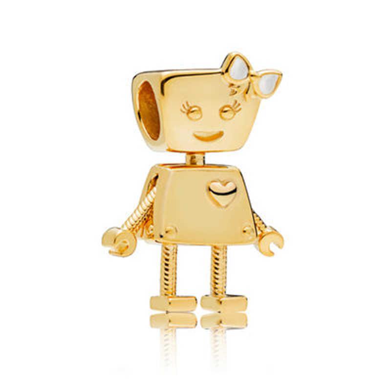 TOGORY 2 pz/lotto Europeo Misura Branelli Pandora Pendenti e Ciondoli Argento Colore Originale Astronauta Piccolo Bella Perline di Cristallo Gioielli FAI DA TE Che Fanno