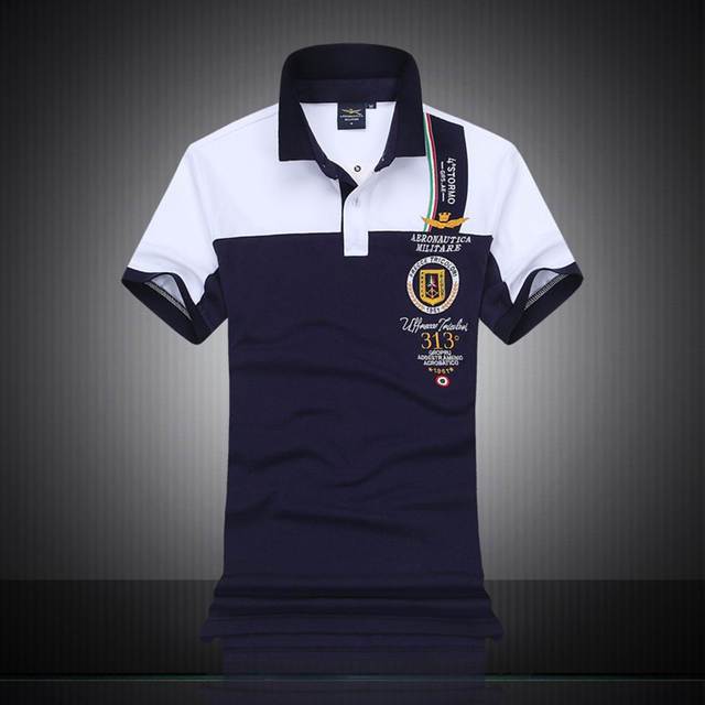 Online Shop New Fashion Mens Polo Shirt Brand Aeronautica Militare