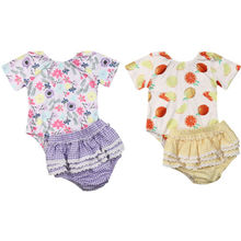 AU Newborn Baby Girls Clothes Flower Tops Romper Ruffle Shorts Outfits Sunsuit цена 2017