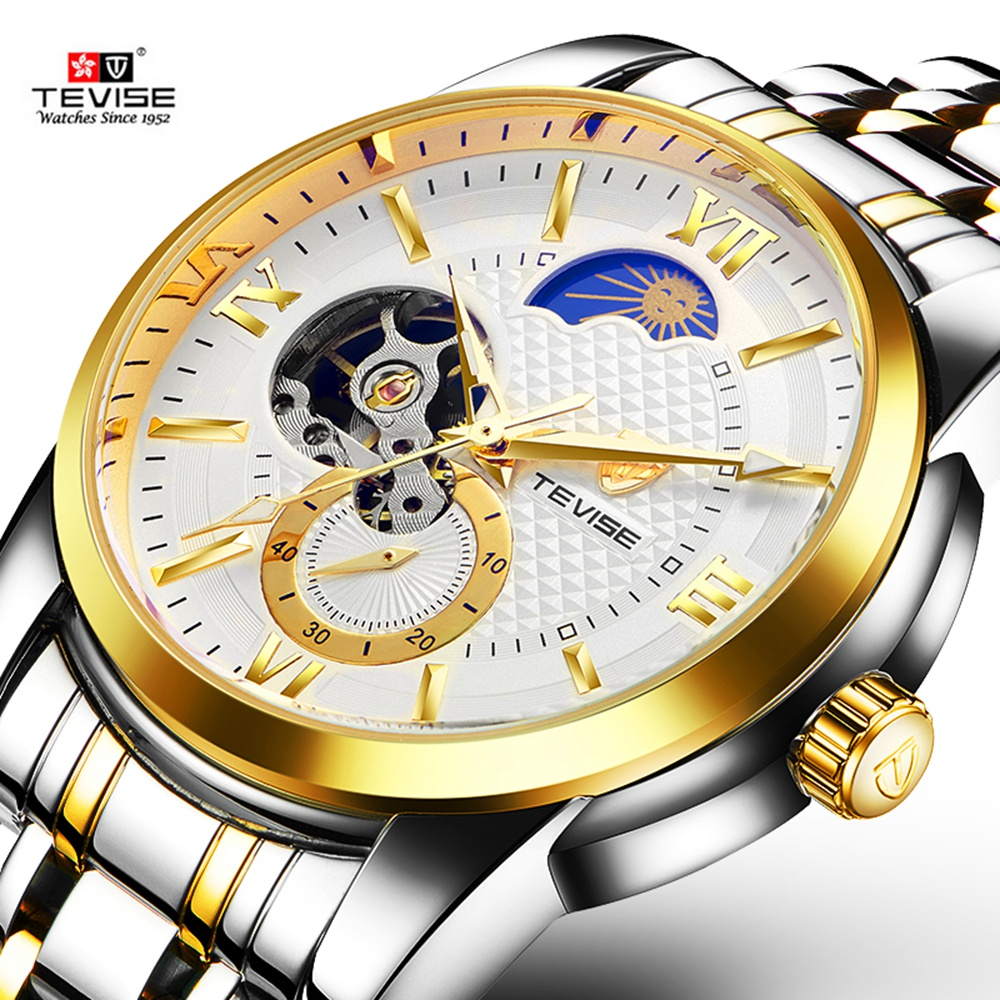 TEVISE Fashion Sport Automatic Mechanical Watch Men Top Brand Luxury Male Clock Wrist Watches for Men Relogio Masculino T805C-A tevise fashion sport automatic mechanical watch men top brand luxury male clock wrist watches for men relogio masculino t629b