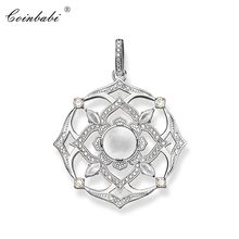 Pendant Crown Chakra Flower For Women Girls 2018 Summer New Trendy Gift Thomas Style 925 Sterling Silver Jewelry Fit Ts Necklace