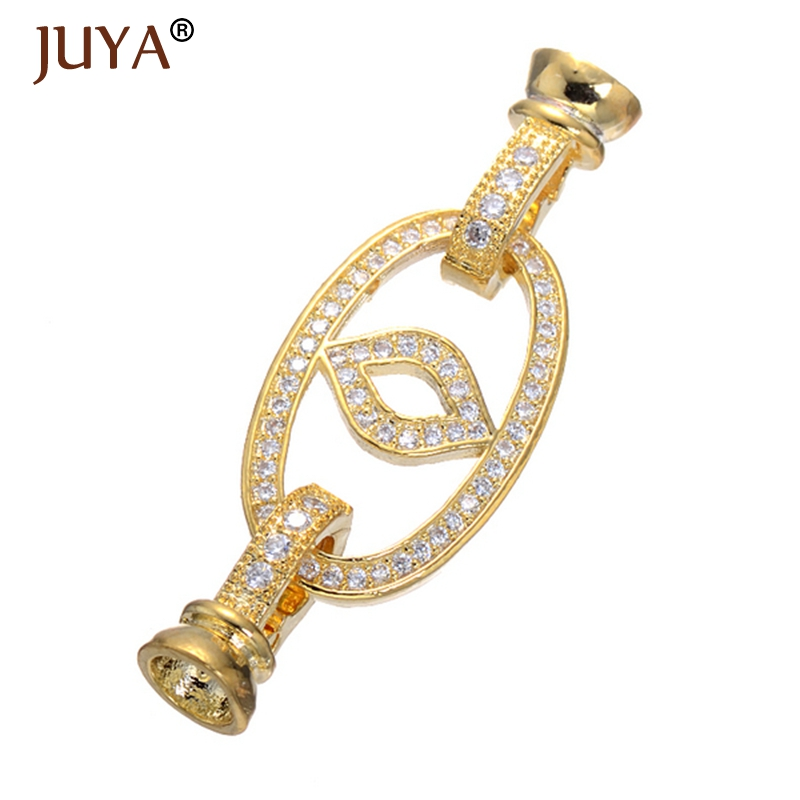 Fashion Micro Pave CZ Rhinestone Jewelry Findings End Beads Caps Connectors Clasps Diy Beaded Bracelets Necklace Component Parts