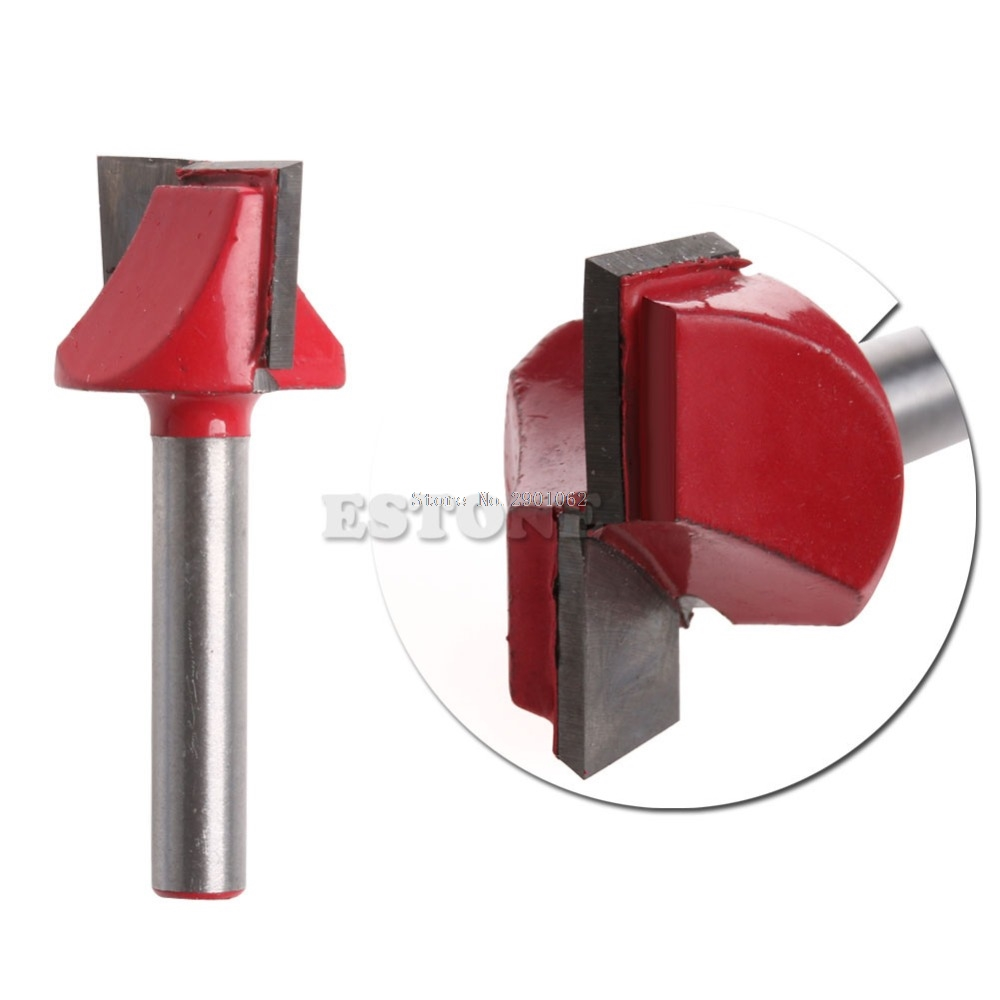 1/4 Router CNC Woodworking V Groove Bottom Cleaning Bit 6mmx22mm Milling Cutter -B119 1pc cleaning bottom router bit cutter cnc woodworking clean bits 1 2 shank dia