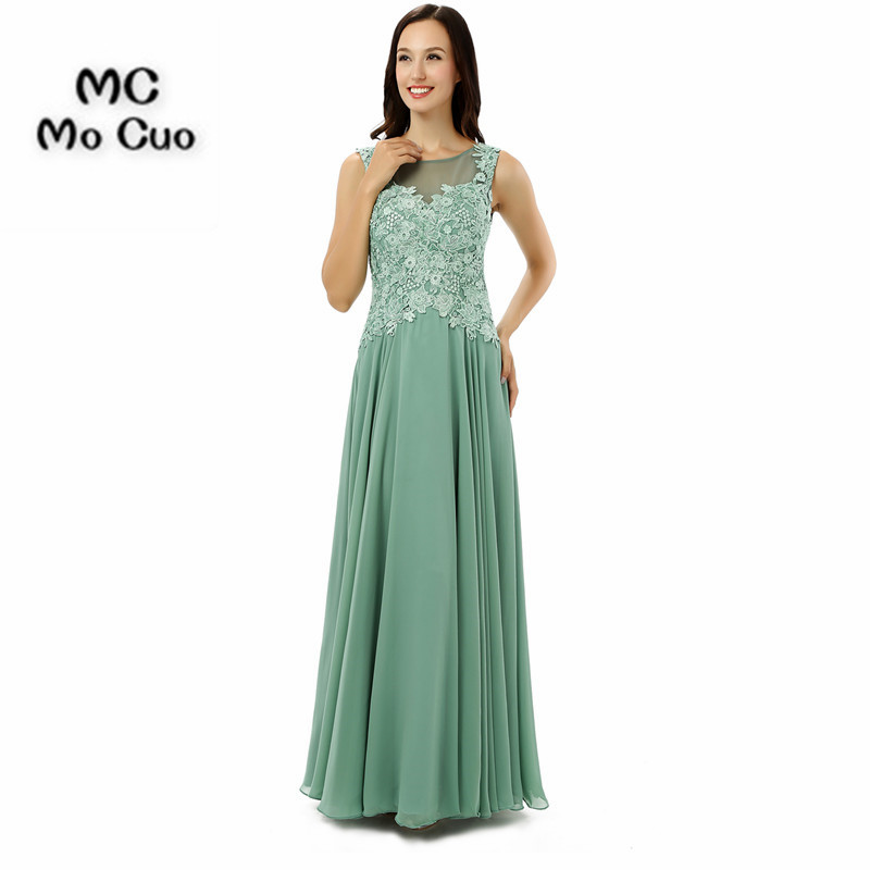 Sheer Neck 2017 Elegant   Evening     dresses   Long Appliques Vestidos de fiesta Formal Chiffon Draped Zipper Back   Evening   Prom   Dress