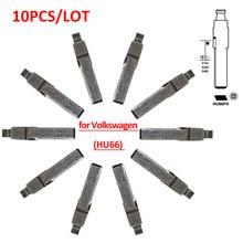 Frete grátis (10 pçs/lote) KD de Metal Em Branco Uncut Flip Remoto Key Blade Tipo Hu66 lâmina