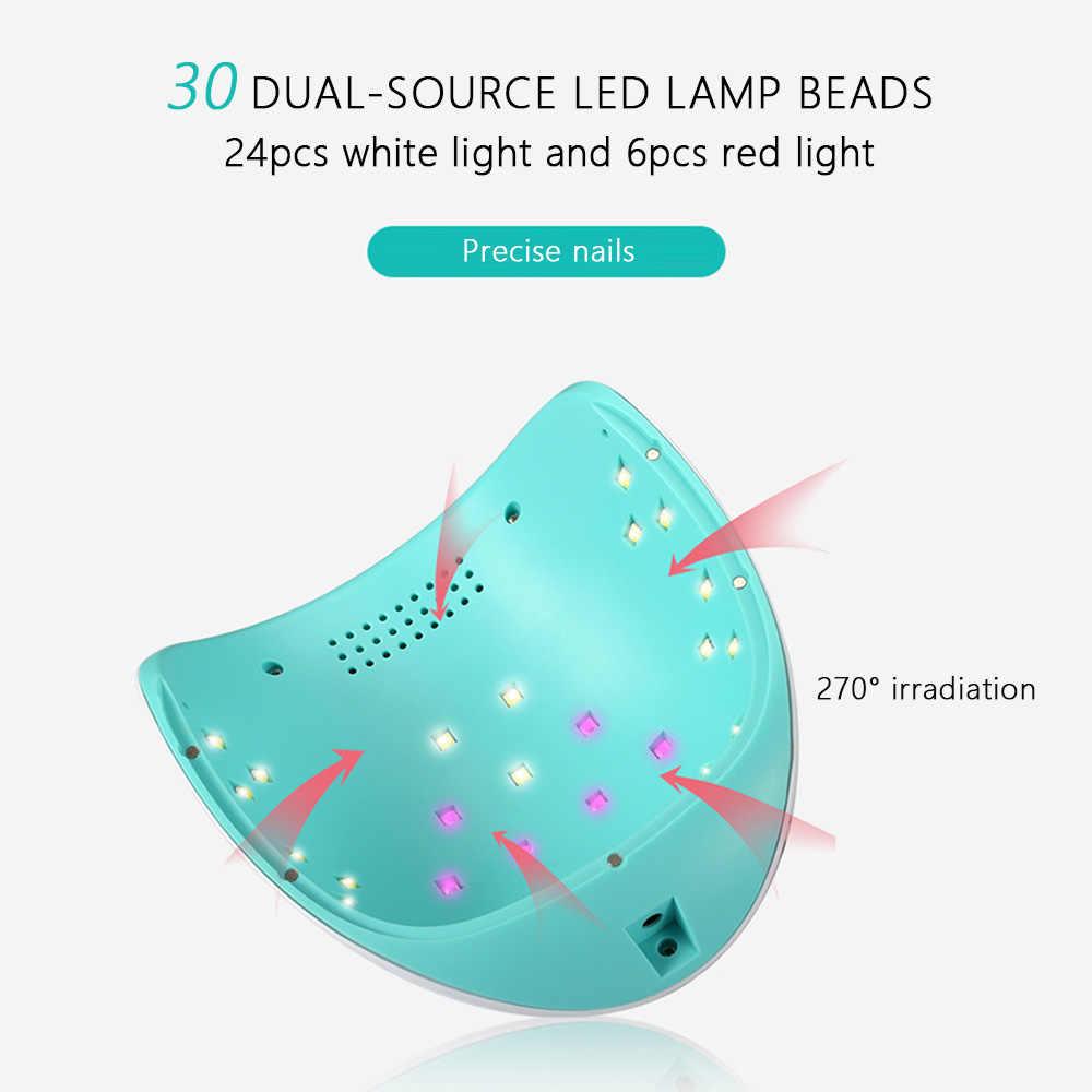 DIDIHOU Прямая доставка для ногтевой фототерапии машина отбеливающая красный свет сушка ногтей лампа для высушивания светодиодный Быстросохнущий