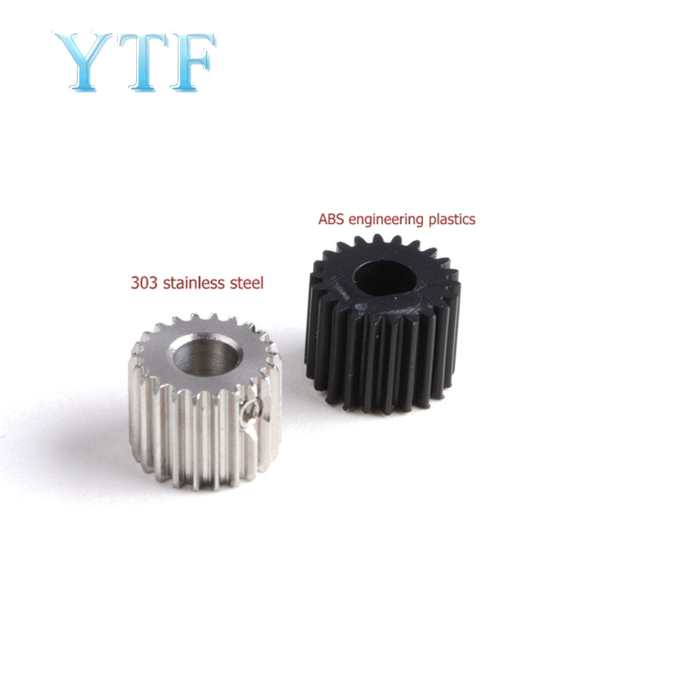 3D Printer Parts Titan Extruder Gear 0.5 Modulus 22 Toothed Stainless Steel Material Plastic Pinion