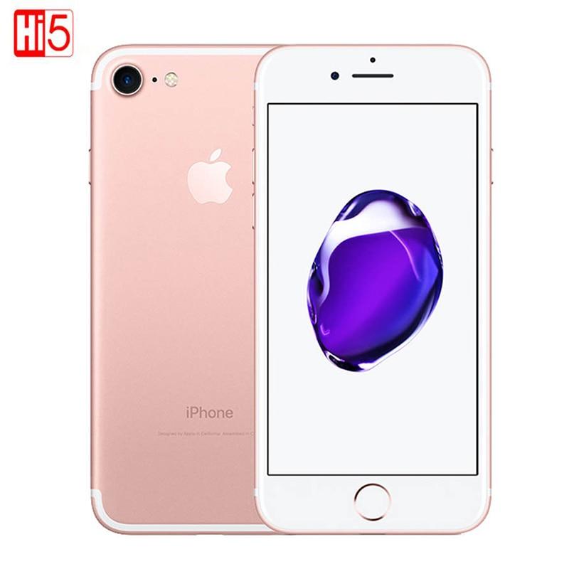 Desbloqueado apple iphone 7/7 plus 2 gb ram 128 gb rom telefone ios10 lte 12mp câmera quad-core impressão digital telefone inteligente iphone 7/7 plus