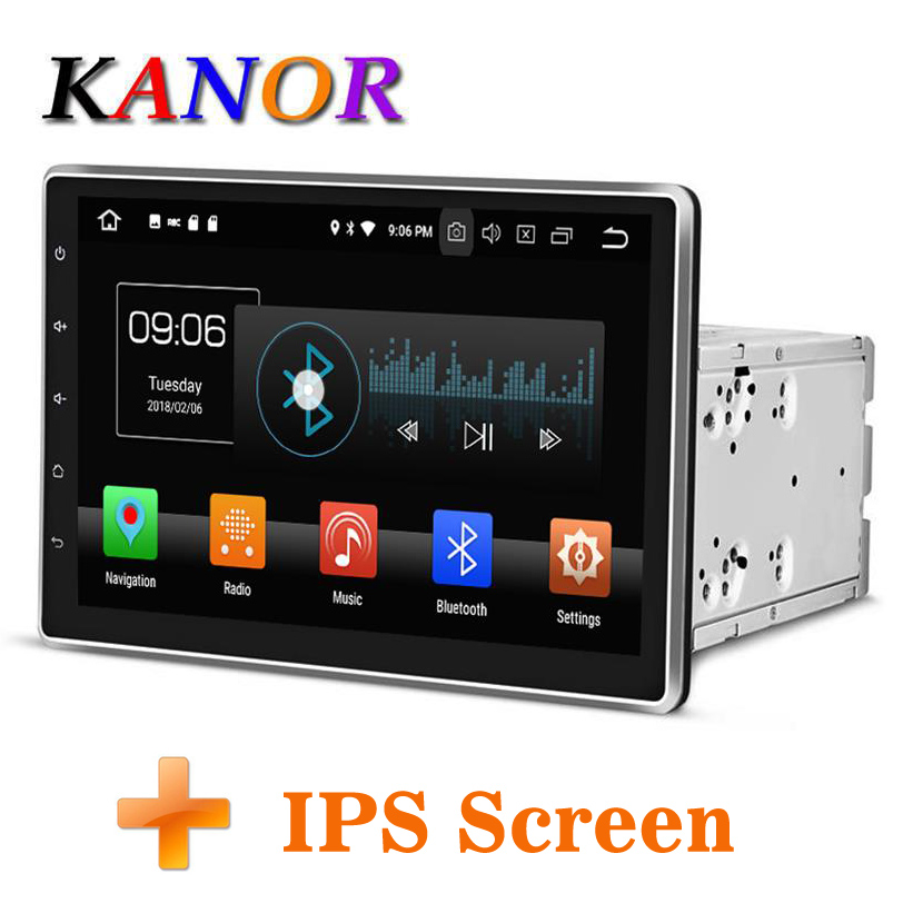 KANOR Android 8.0 Octa Core 4g 10.1 inch IPS Double 2 din Car GPS DVD Player Bluetooth Stereo Satnavi 2din Car Radio Multimedia kanor android 7 1 ram 2g 2din car dvd radio for hyundai elantra 2016 multimedia player wffi swc map bt audio double din car gps