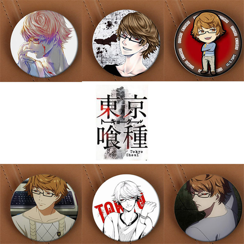 Youpop Tokyo Ghoul Anime Brooch Pins Badge Accessories For Clothes Hat Backpack Decoration Men and Women Boy Girl HZ1376