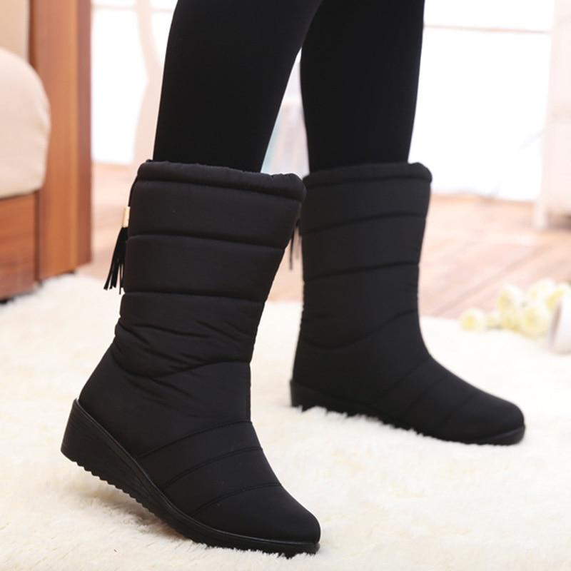 Модные женские ботинки с бахромой, зимние ботинки, женские зимние ботинки, женские ботинки средней длины до голени, теплая зимняя обувь, бол...