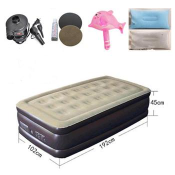 Łóżko składane nadmuchiwane miękkie łóżko Cama materace meble do sypialni darmowa wysyłka tanie i dobre opinie Soft Bed Meble do domu China Old man young people child Inflatable Mattresses 45cm 50cm Flocking