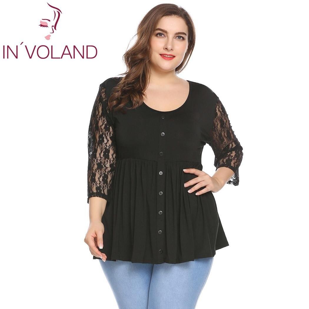 Aliexpress.com : Buy IN'VOLAND Women T Shirt Tops Plus ...