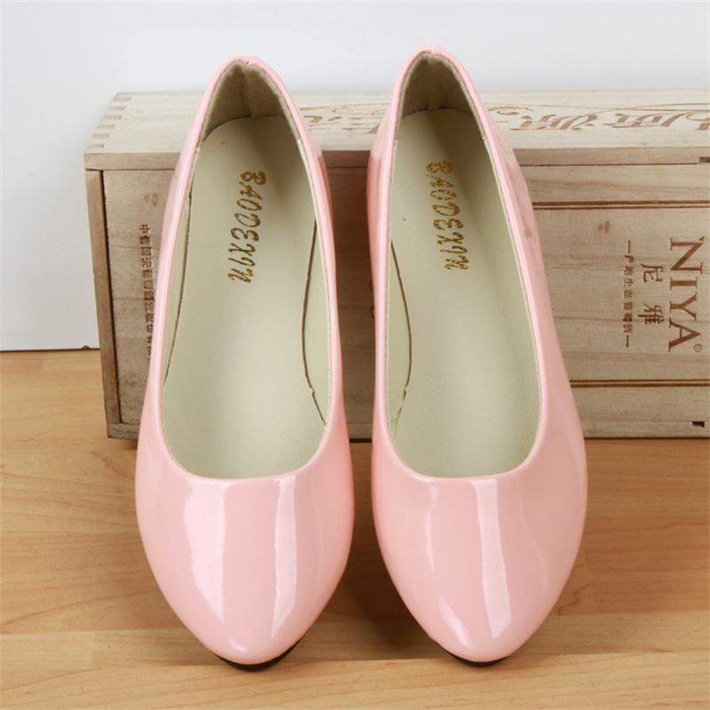 Big Size Women Flats Candy Color Shoes Woman Loafers Spring Autumn Flat Casual Shoes Women Zapatos Mujer Plus Size 35-42 girls fashion punk shoes woman spring flats footwear lace up oxford women gold silver loafers boat shoes big size 35 43 s 18