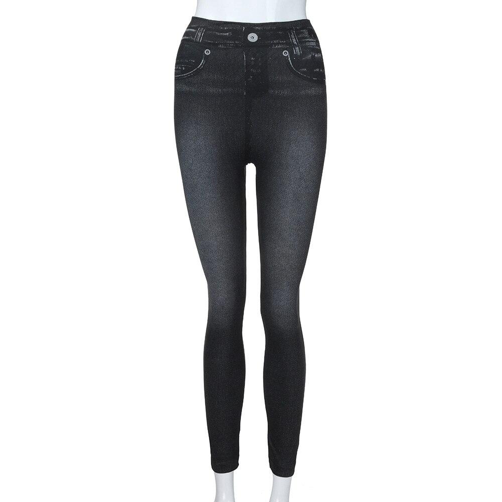 HTB1sooRbfvsK1RjSspdq6AZepXak #40 Women's Leggings Casual Sexy Girls Leggings Pure Black Denim Trousers Pocket Slim Leggings Fitness Large Size Leggings Jeans