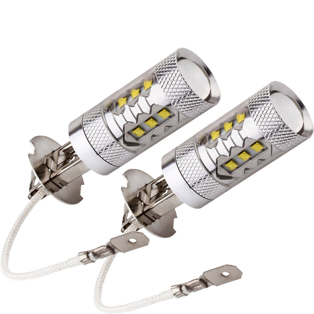 EE support 2 Pcs 80W White LED SMD H3 Super Bright Car Auto Fog lights Headlights Tail DRL Lamp Bulb Sale XY01 e support 2 pcs h7 80w cree super bright xenon white led car auto fog lights rear lights headlights lamp bulb xy01