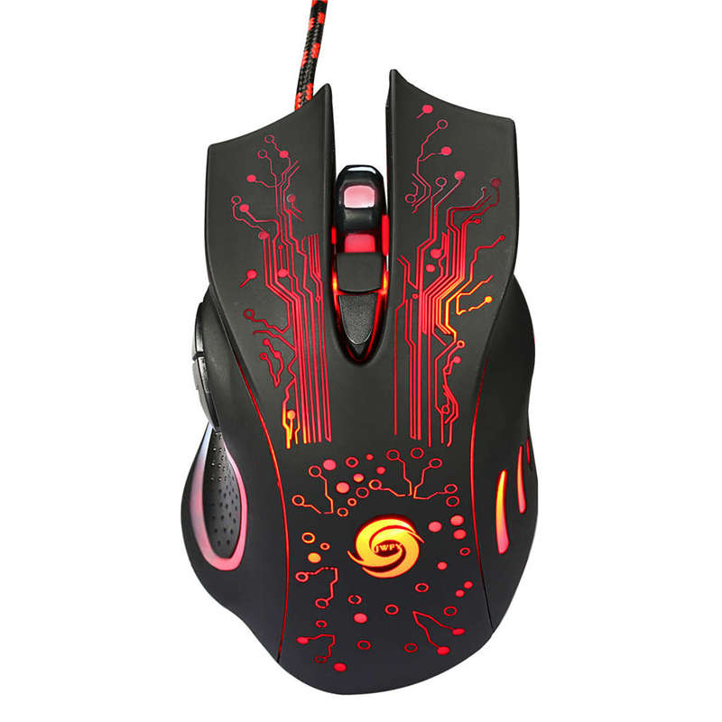 Professional Wired Gaming Mouse 6 Button Led Optical Usb Computer Mouse Gamer Mice K1013 Game Mouse Silent Mouse For Pc Random