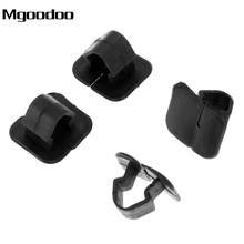 Mgoodoo 50Pcs Car Hood Cotton Insulation Lining Fasteners Plastic Retainer Bonnet Holder Pad Clip Fit For V W