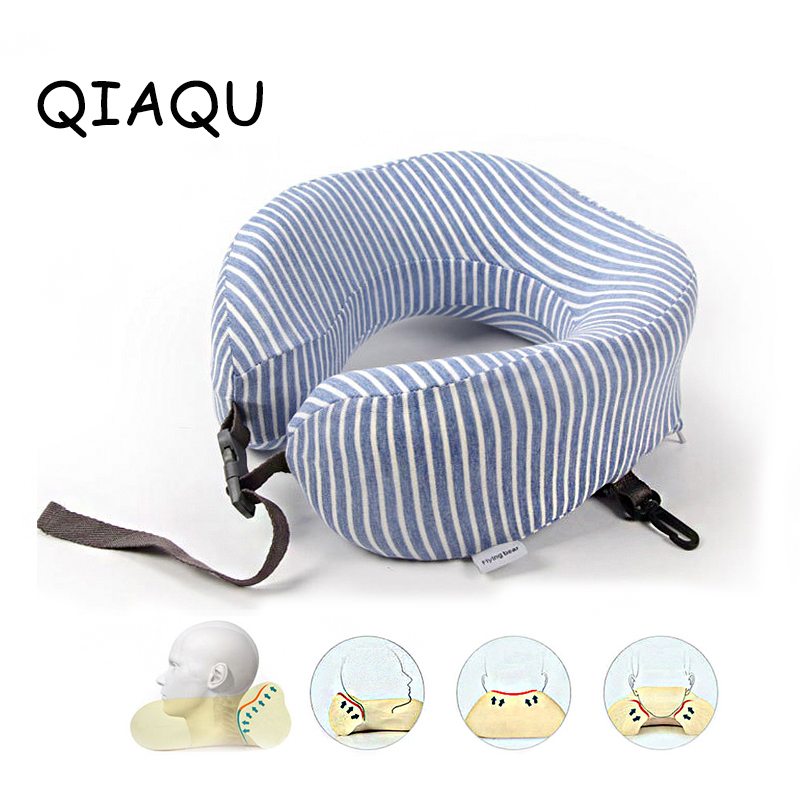 U-Shape Travel Pillow For Airplane Neck Pillow Travel Accessories Comfortable Pillow For Sleep Cushion Rebound Packaging Storage