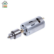 Mini DC 24V Electric Hand Drill Motor PCB Press Drilling Compact Set with 10pcs 0.5-3mm Twist Bits and 0.3-4mm JTO Chucks Tool