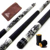 "CUESOUL Coming Rockin Series 57"" 21oz Maple Pool Cue Stick Set with Joint Protector/Shaft Protector and Cue Towel"