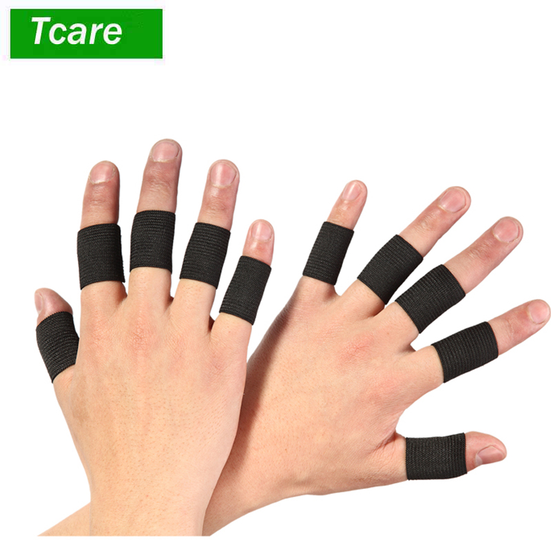 20Pcs=2Set Finger Sleeves Support Thumb Brace Protector Breathable Elastic Finger Tape For Basketball, Tennis,Baseball, Cricket