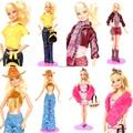 4 jogos/lote Handmade conjunto de roupas terno lazer Jeans inverno chapéu para Kurhn Barbie Doll
