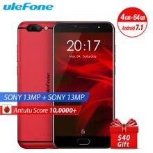 Original Ulefone Gemini Pro Mobile Phone 5.5″ FHD 4GB RAM 64G ROM MTK6797 Helio P27 Android 7.1 Dual Rear Camera 13MP Smartphone