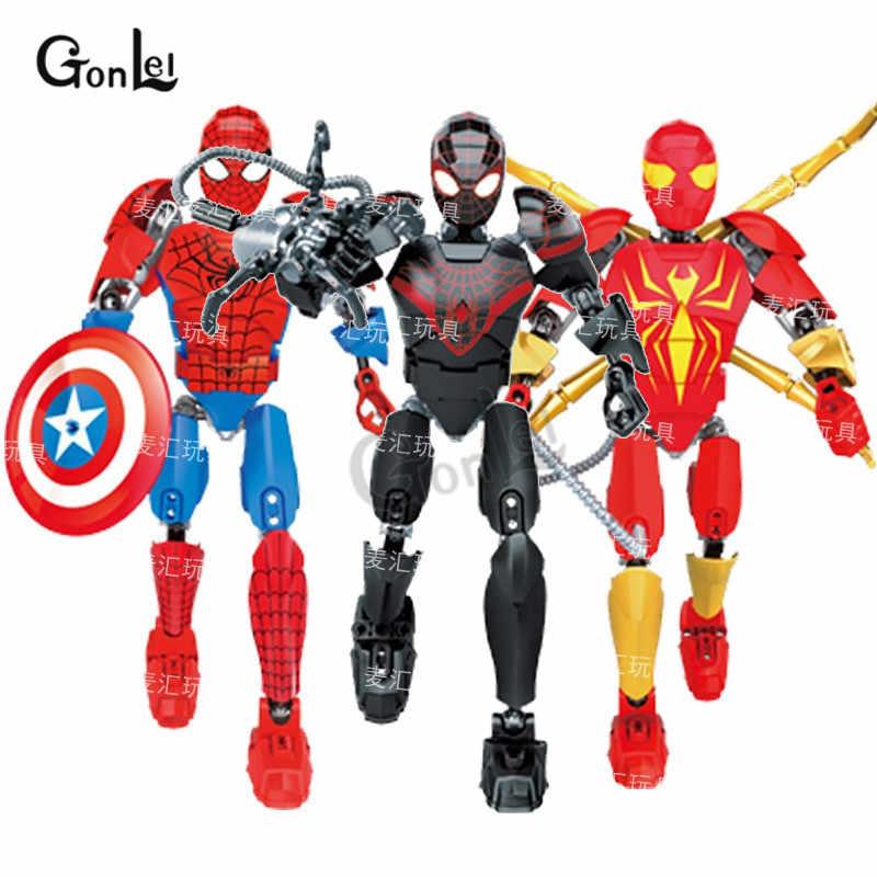 2019 Marvel Мстители: эндшпиль Супер Герои Человек-паук против Веном мех строительные блоки кирпичи игрушка подарок Совместимость