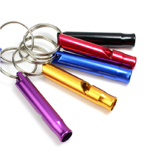 Aluminum Alloy Safety Whistle Keyring