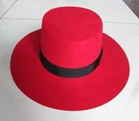 Classic Men Red 100% Wool Felt Fedora Hat Winter Women Blank Fedoras Hats Fall Mens Brown Woolen Trilby Caps Wide Brim B 8128