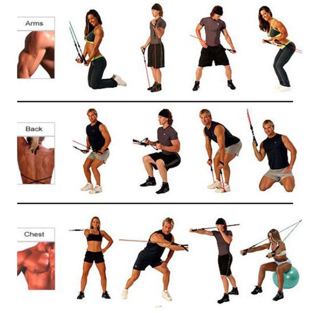 Joga otpor bend vježba Stretch Fitness Tube pojasevi kabel za - Fitness i bodybuilding - Foto 4