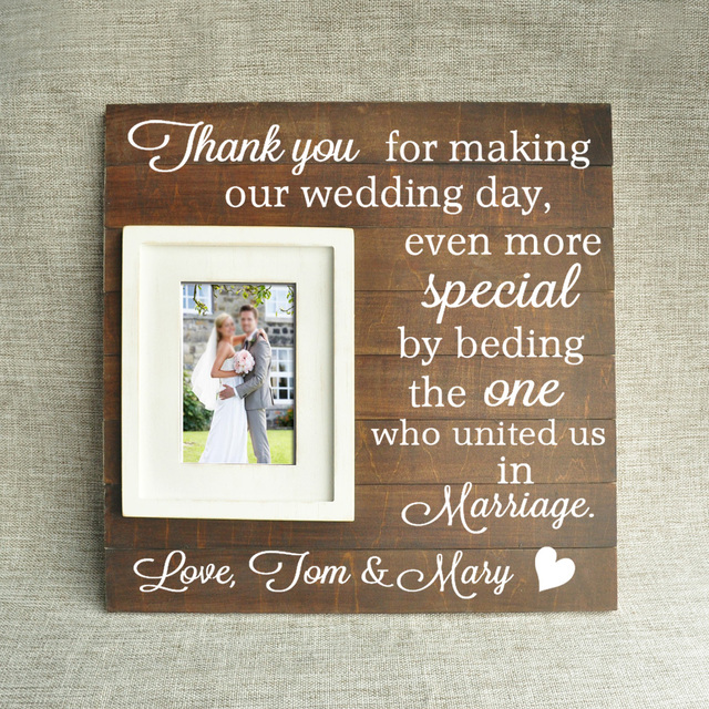 Personalized Wooden Photo Framegift For Fathermotherding