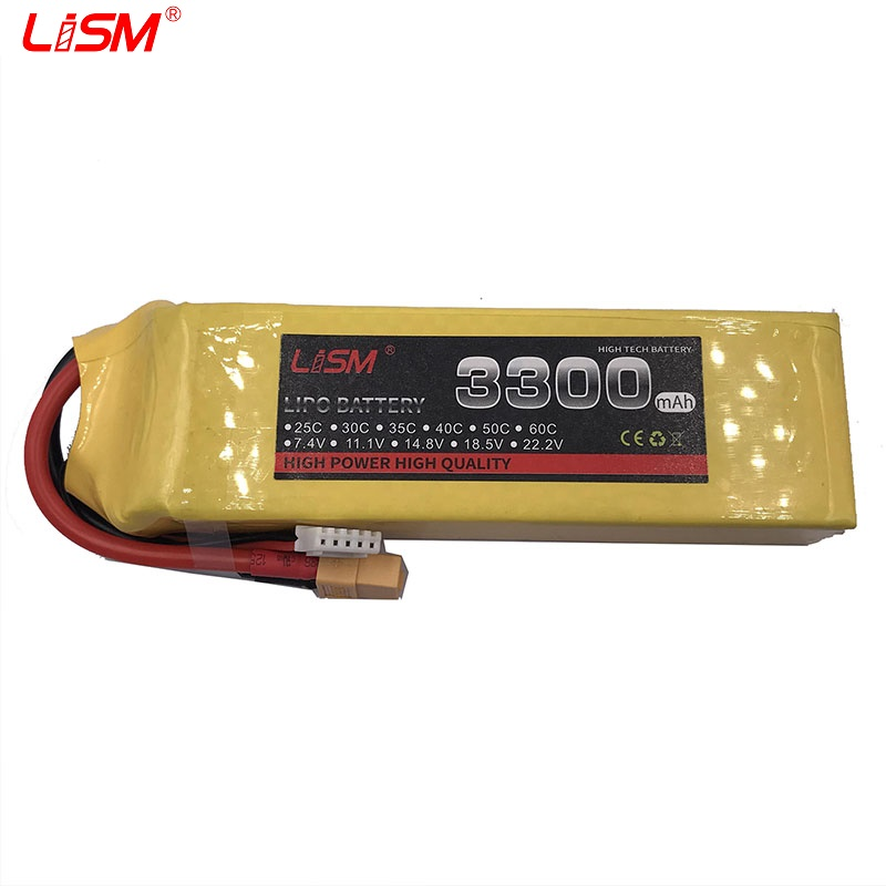 Battery <font><b>Lipo</b></font> <font><b>4S</b></font> 14.8V <font><b>3300mAh</b></font> 60C MAX120C For rc helicopter rc car rc boat quadcopter Li-Polymer battey #35y51 image