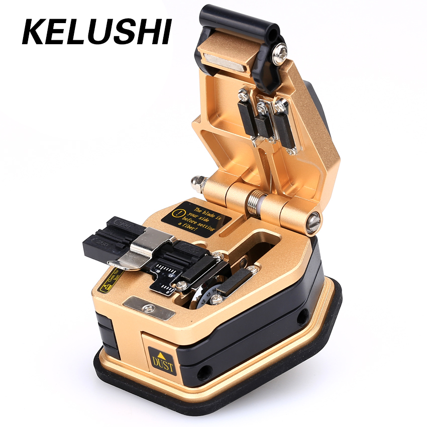KELUSHI Fiberoptiske verktøy Fiber Cleaver SKL-6C Cutter16 Overflate Fiber Blade Fiber Optisk kabel Cold Connection Fusion Splicer
