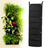 7 POCKET Outdoor Vertical Gardening Flower Pots and Planter Hanging Pots Planter On Wall