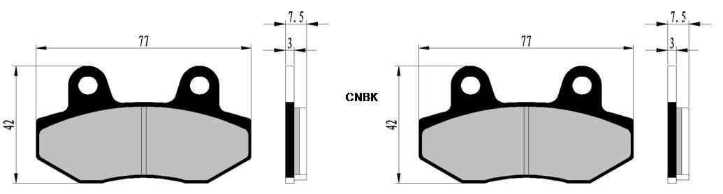 Sapata de freio Pads conjunto para SUPERBYKE RMX125 RMX 125 2007 2008 2009 2010 2011 2012 2013 2014 2015 / R-SR250 RSR250 R-SR 250