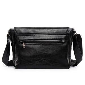 Image 2 - Zebella Simple Famous Brand Business Men Briefcase Bag Luxury PU Leather Black Laptop Bag Man Shoulder Crossbody Bag Bolsa Malet