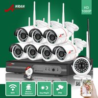 ANRAN P2P 8CH 1080P HDMI WIFI NVR 24IR Waterproof Outdoor 2MP Wireless IP Camera Surveillance CCTV