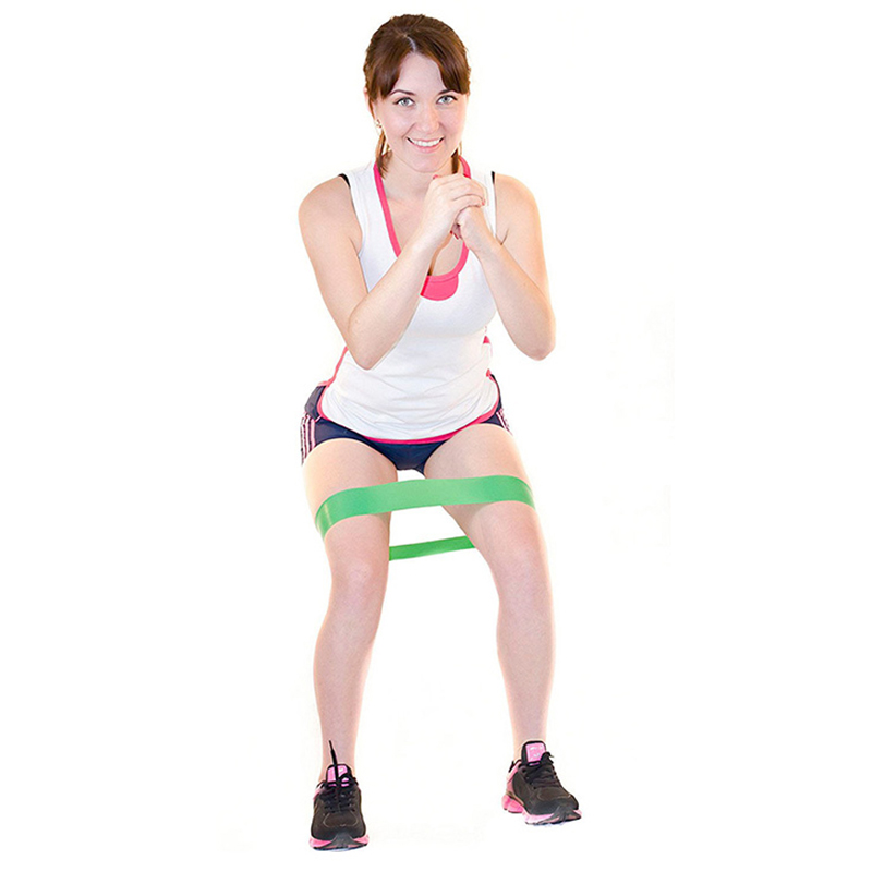 Pilates Resistance Bands Rubber Loop Fitness Band Power Training Expander Women Yoga Sports Strength Gym Pull Rope Thigh Master