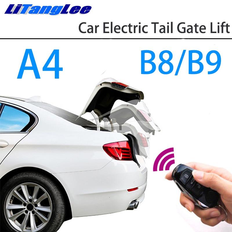 LiTangLee Car Electric Tail Gate Lift Trunk Rear Door Assist System For Audi A4 B8 8K B9 8W 2008~2019 Original Remote Control
